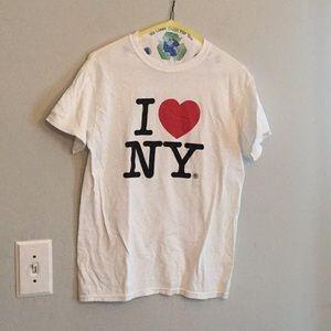 I love NY white T-shirt size small short sleeves